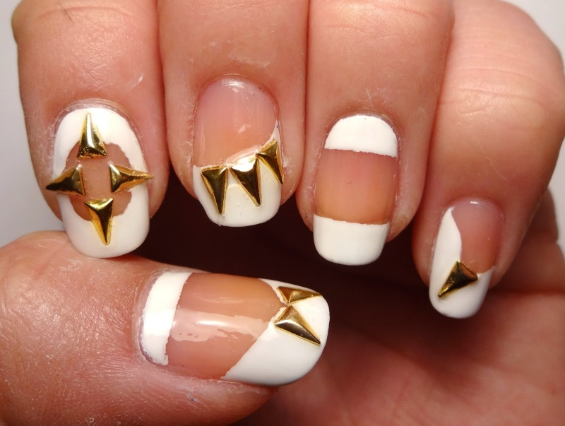 Picture Of Original Diy Skulls And Spikes Nail Art 3