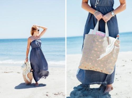 Perfect DIY Beach Bag To Make