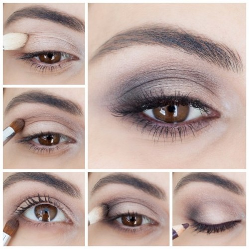 Perfect DIY Brown Smokey Eye Makeup To Master