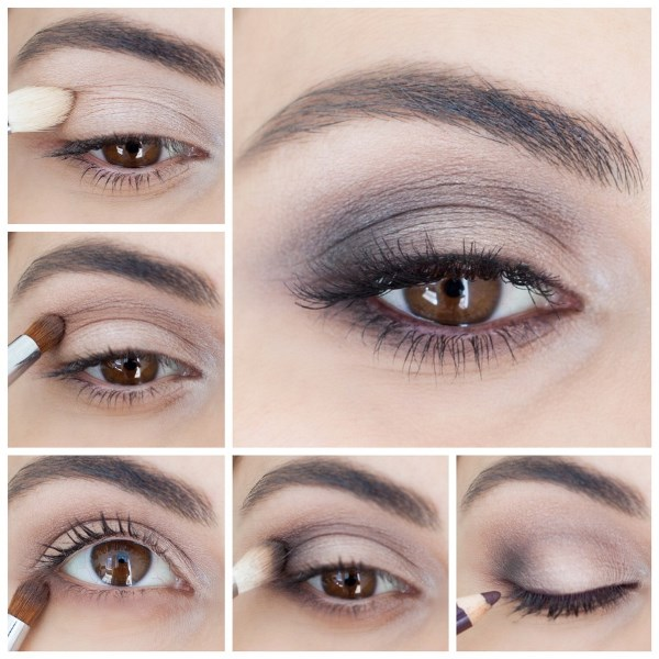 Picture Of perfect diy brown smokey eye makeup to master  2