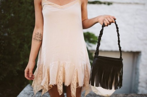 Perfect DIY Leather Fringe Bag