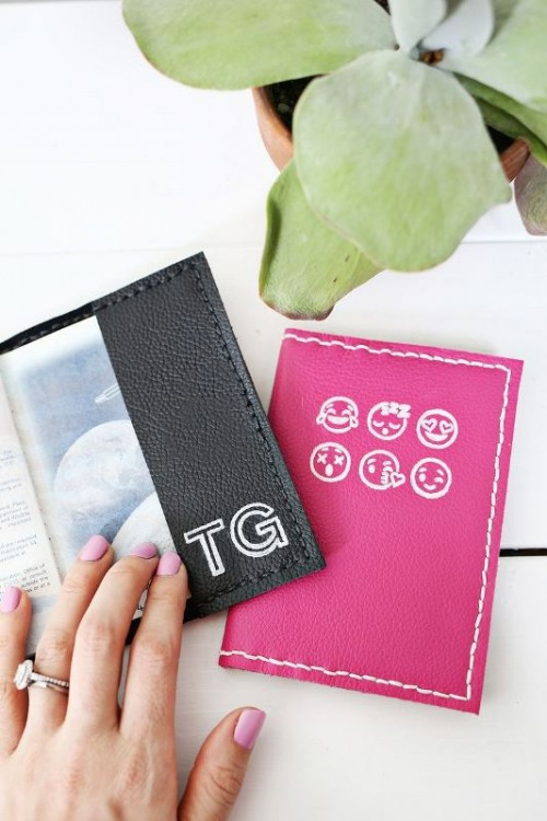 Perfect DIY Stamped Leather Passport Holder
