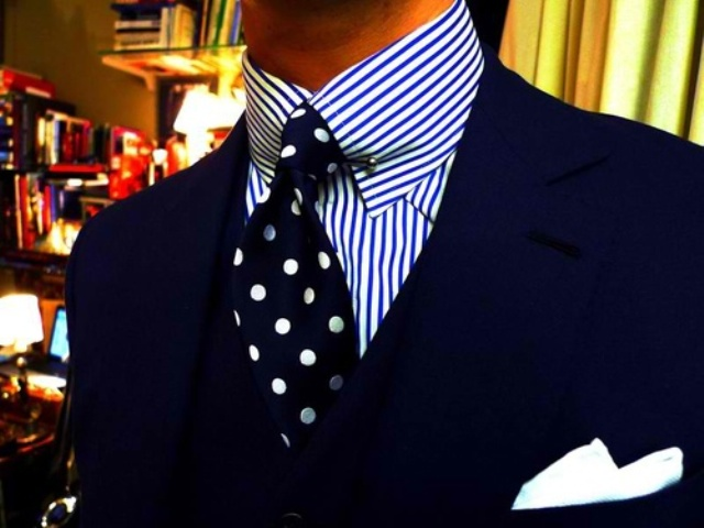 Picture Of polka dot men outfits for work  16