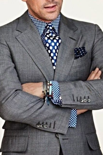 Picture Of polka dot men outfits for work  6