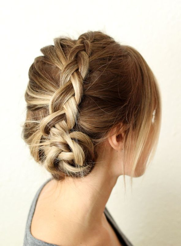Picture Of pretty and easy diy dutch aka inside out french braid  1