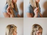 pretty-and-easy-diy-scrunched-braid-hairdo-2