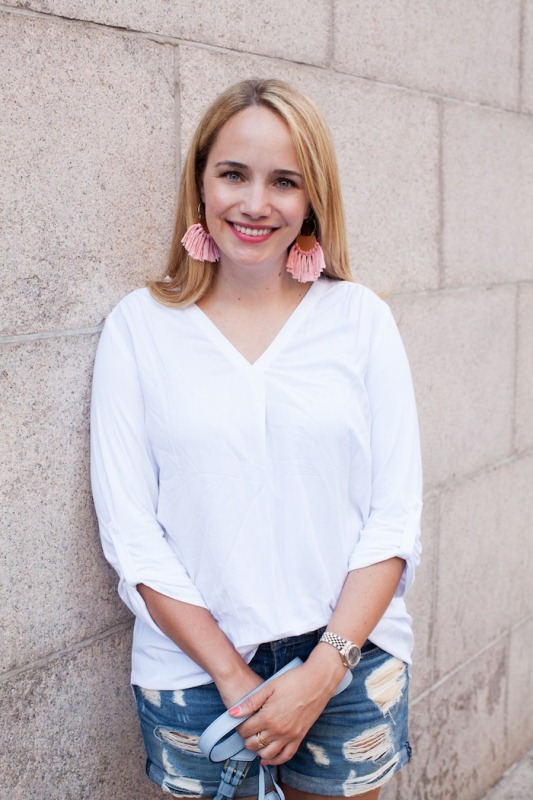 Picture Of pretty and fun diy brass fringe earrings to make  1