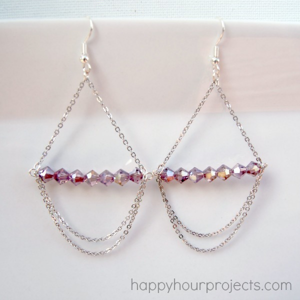 Picture Of pretty and simple diy chandelier earrings  1