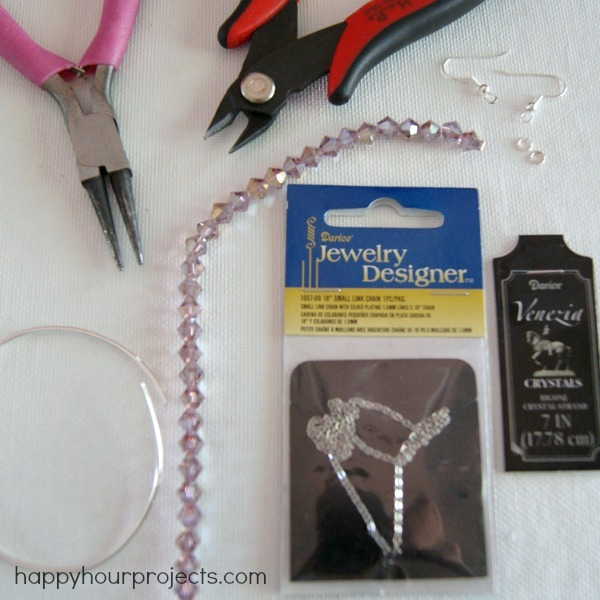 Picture Of pretty and simple diy chandelier earrings  2