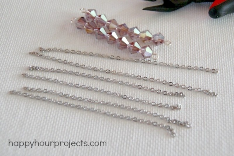 Picture Of pretty and simple diy chandelier earrings  5