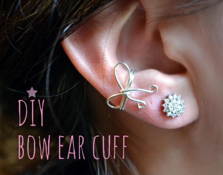 Picture Of pretty diy bow ear cuff  1