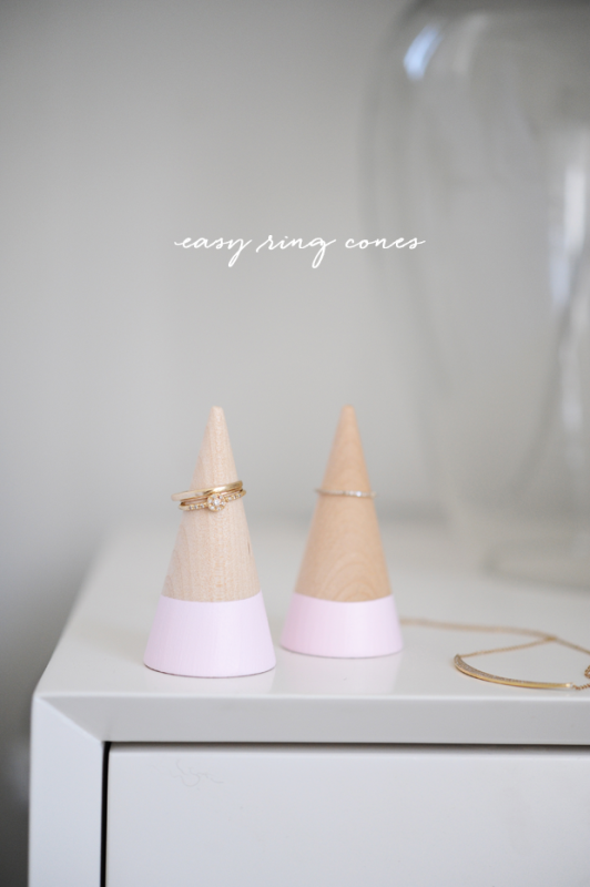 Picture Of pretty diy cones for storing and displaying your rings  1