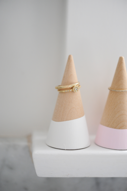 Pretty DIY Cones For Storing And Displaying Your Rings