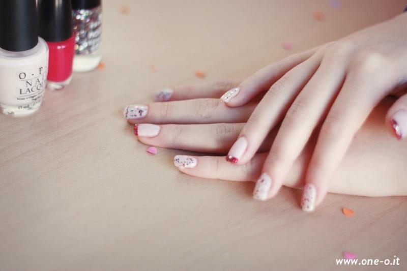 Picture Of pretty diy confetti nail art  5