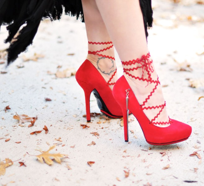 Picture Of pretty diy lace up heels  2