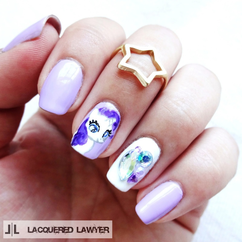 Picture Of pretty diy my little pony manicure  1