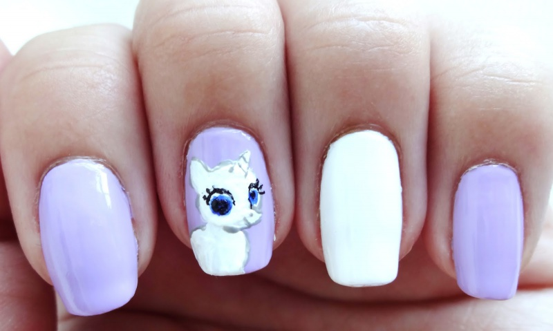Picture Of pretty diy my little pony manicure  4