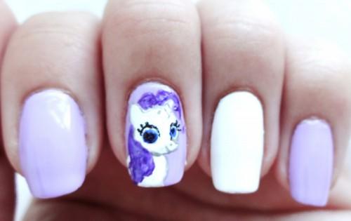 Pretty DIY My Little Pony Manicure
