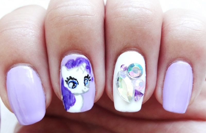 Picture Of pretty diy my little pony manicure  6