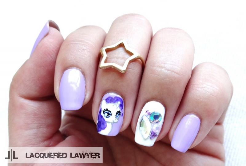 Picture Of pretty diy my little pony manicure  7
