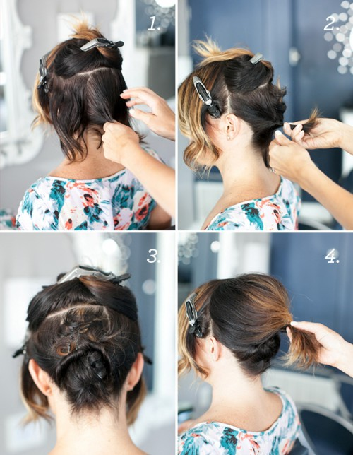Pretty Simple Diy Updo For Short Hair Styleoholic