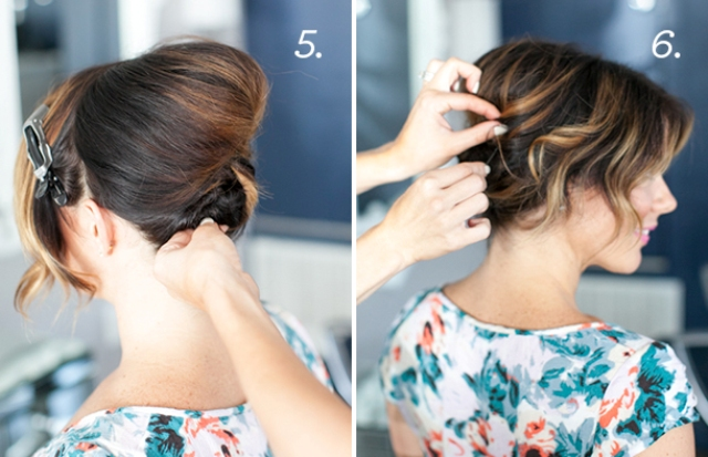 Picture Of Pretty Simple Diy Updo For Short Hair 3