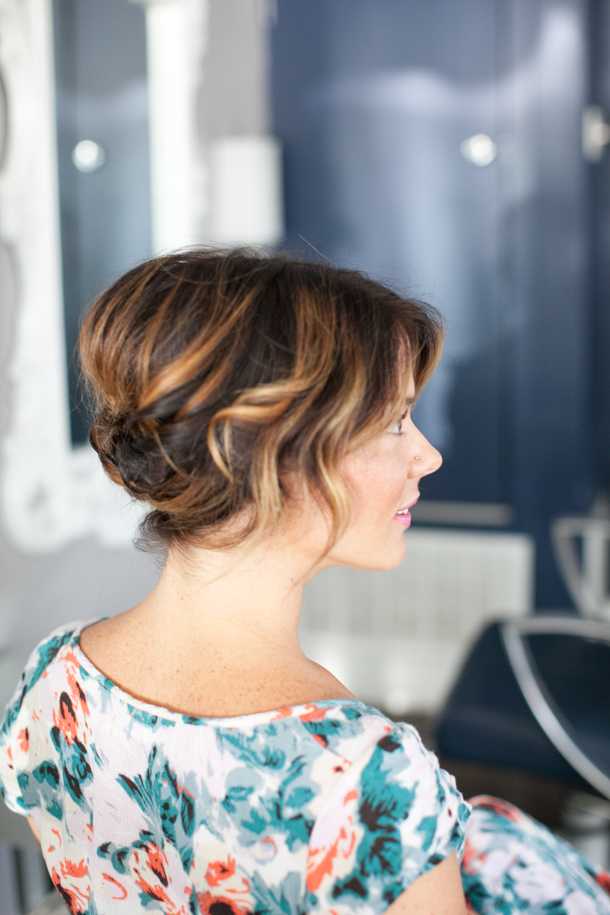 Picture Of pretty simple diy updo for short hair  4