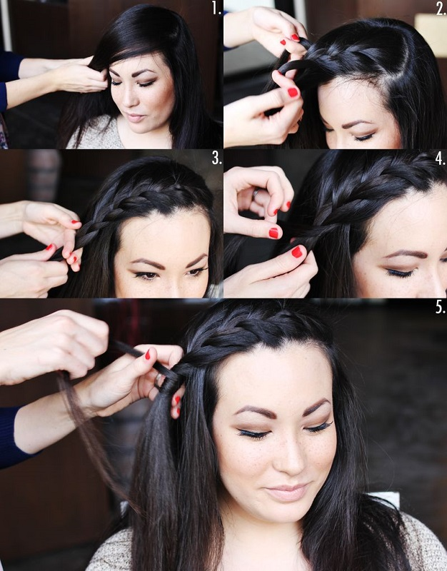Picture Of pretty styling a side braid in two ways  3