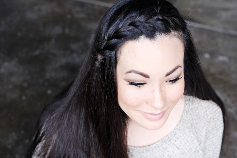 Picture Of pretty styling a side braid in two ways  4