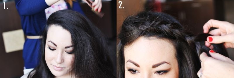 Picture Of pretty styling a side braid in two ways  5