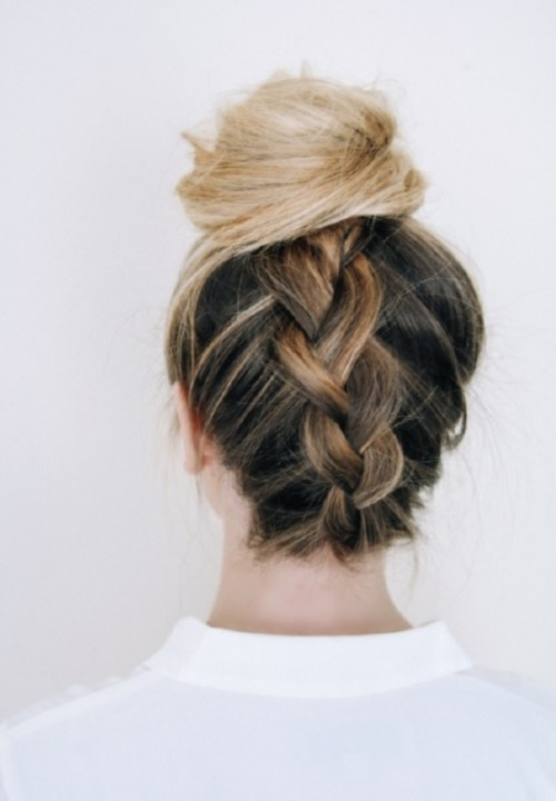 Quick And Whimsy DIY Messy Braided Bun