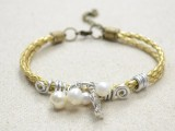 refined-diy-leather-cord-bracelet-with-pearls-4