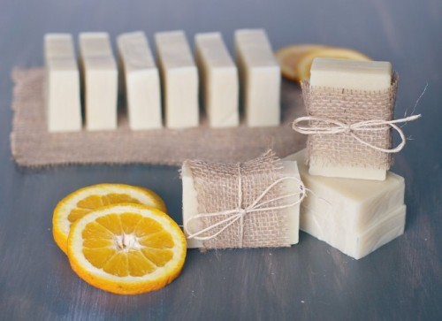 soaps with a fresh orange scent (via shelterness)