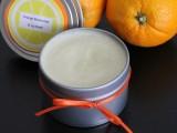 orange moisturizer and lip balm