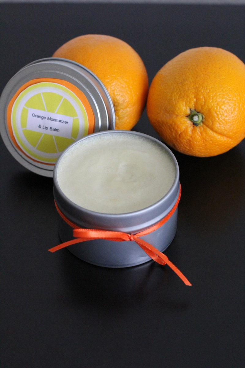orange moisturizer and lip balm