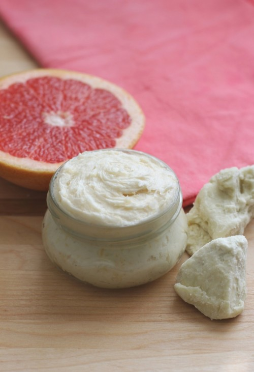 red grapefruit whipped body lotion (via dailysqueeze)