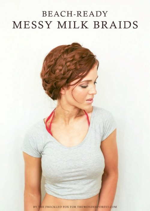 Relaxed And Perfectly Messy DIY Milk Braids