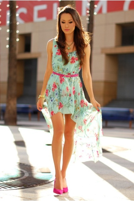 Picture Of romantic and relaxed floral summer dresses  19