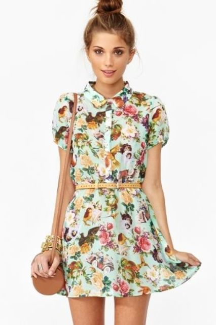 Picture Of romantic and relaxed floral summer dresses  24