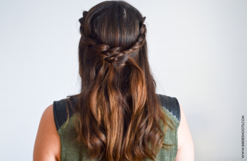 Picture Of romantic diy crossed dutch braid to try  1