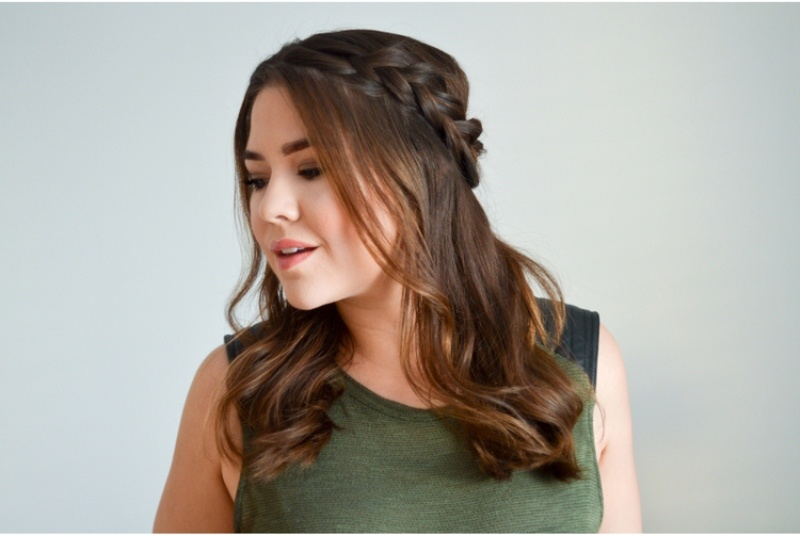 Picture Of romantic diy crossed dutch braid to try  2