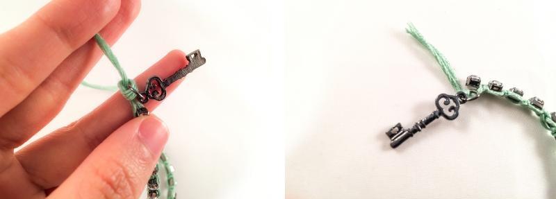 Picture Of romantic diy rhinestone wrapped charm bracelet  3