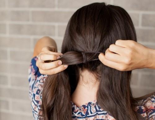 Romantic DIY Sock Bun Hairstyle