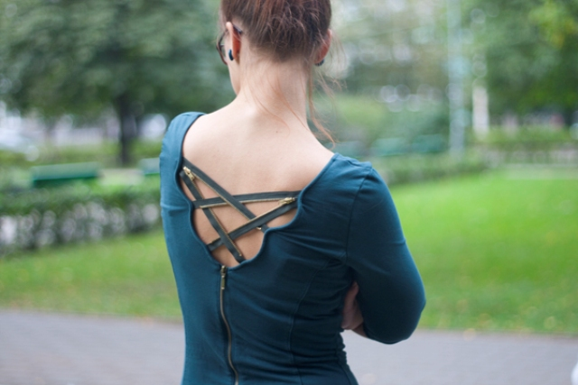 Picture Of sexy diy zipper back dress  2