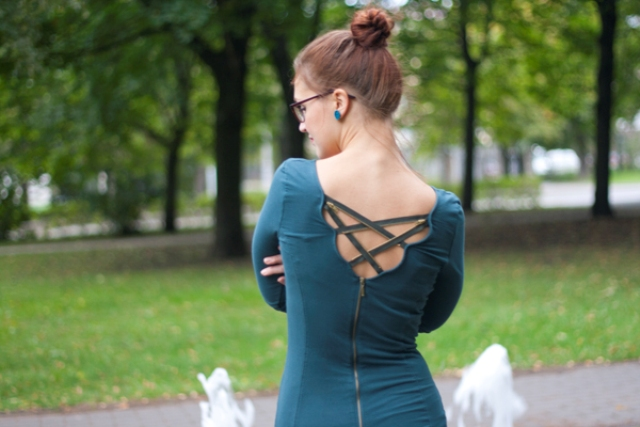 Picture Of sexy diy zipper back dress  5