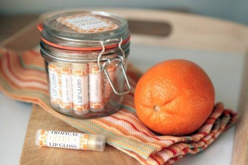 Shiny All Natural DIY Tropical Citrus Lip Gloss