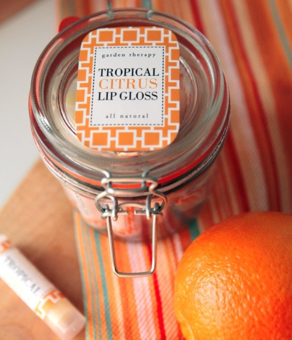 Picture Of shiny all natural diy tropical citrus lip gloss  3