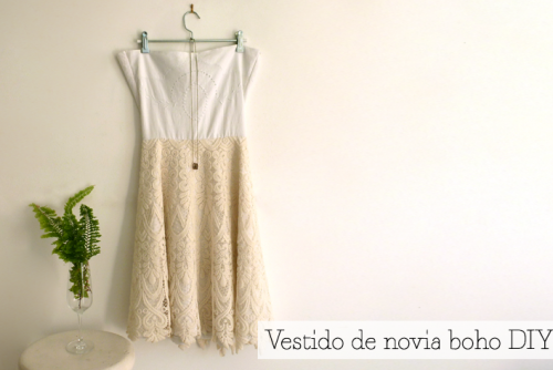 Short DIY Boho Chic Wedding Dress