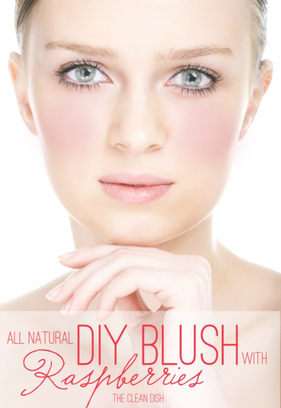 Picture Of simple and all natural diy blush with dried raspberries  1