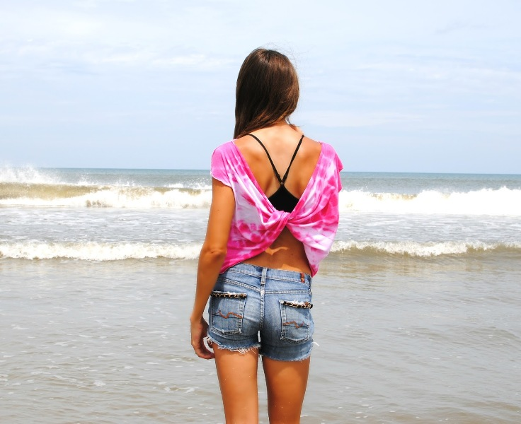 Picture Of simple and comfy diy butterfly twist tee for summer  5